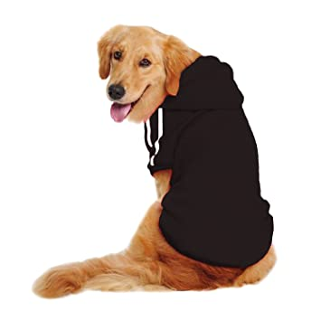 LESYPET Big Dog Sweater Dog Hoodies Sports Clothes Design for Big Dog,  Labrador Retriever, Golden Retriever,German Shepherd Dog,Boxer etc,  20lbs,80lbs