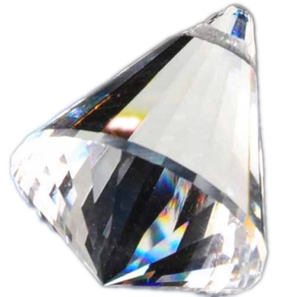 Crystal Chandeliers, COLINKIND Clear Pendant Teardrop Prisms Lamp Lighting Drops Hanging Glass Balls Parts Suncatcher Carland Beads for Home/House/Office Indoor Decor, Pack of 24 (Diamond 40mm)