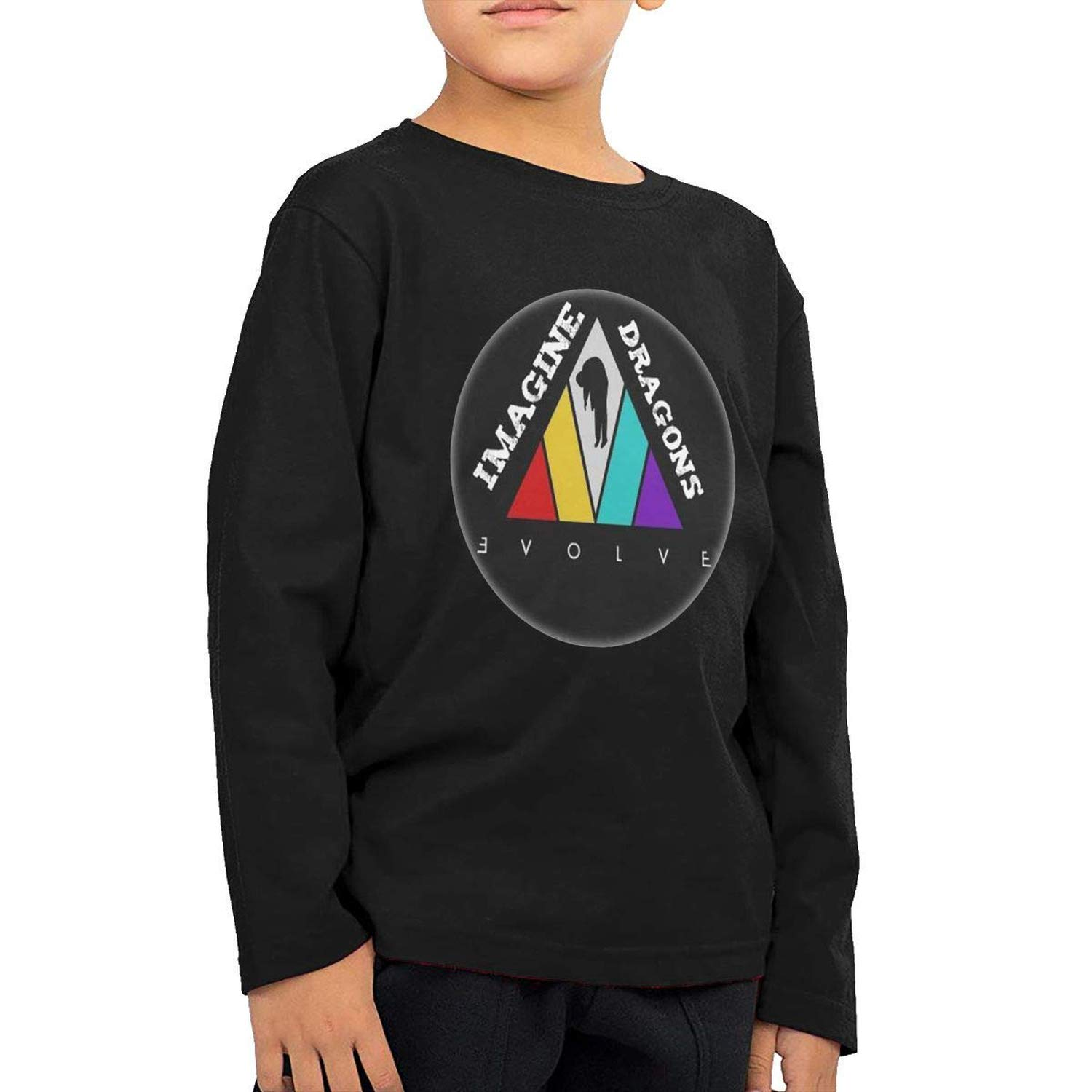 To-night Childrens Long Sleeve T-Shirt Imagine Dragons Personality Street Trend Creation Black