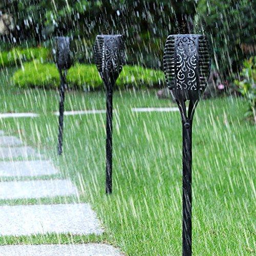 Nusun lite Solar Lights Dancing Flames Lights Solar Torch Lights Waterproof Wireless Flickering Torches Lantern Outdoor for Garden Patio Yard Driveway Pathway Pool (2 Pack) by Nusun lite (Image #7)'
