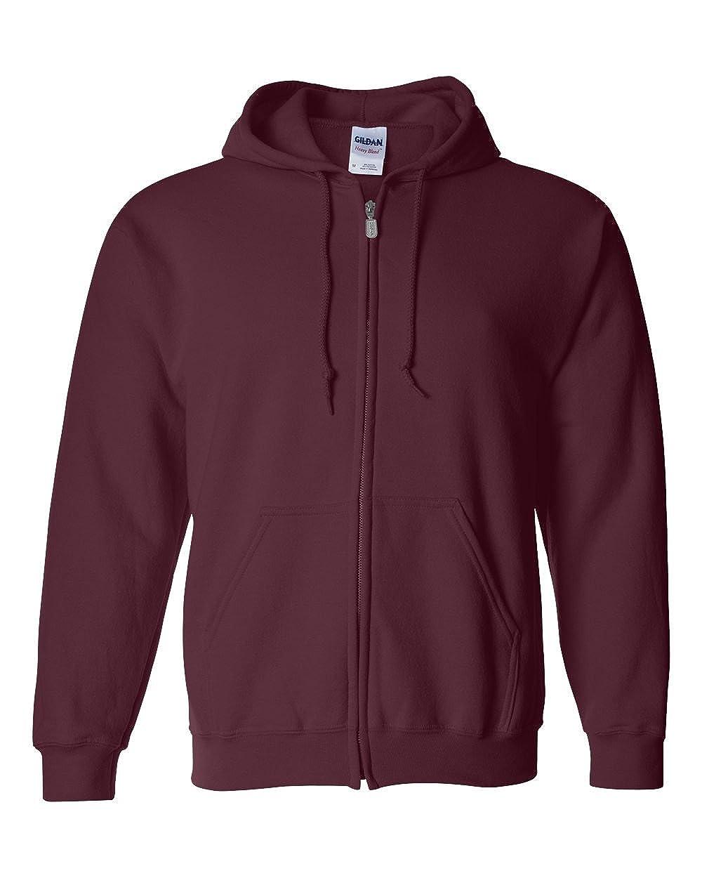 a0b7bca5 Gildan Men's Fleece Zip Hooded Sweatshirt at Amazon Men's Clothing store:
