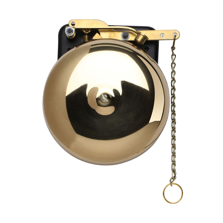 BEVIN BELLS Brass Trip Gong Boxing Bell - Wall Mount Bell for Boxing, Wrestling, Dinner, Emergency Alert - 6''