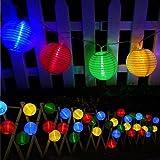 Guirnaldas de Luces Solar Jardín LED Bawoo 30 LED Guirnaldas Luces Exterior 5,5m Impermeable IP65 Guirnalda Luces…