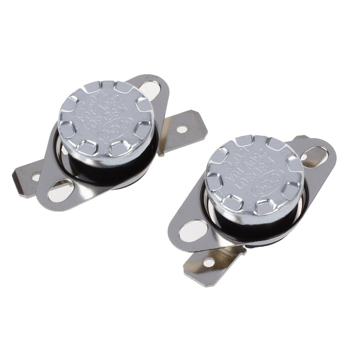 R SODIAL 2 x Termostato Interruptor de Control de Temperatura Celsius KSD301 120C