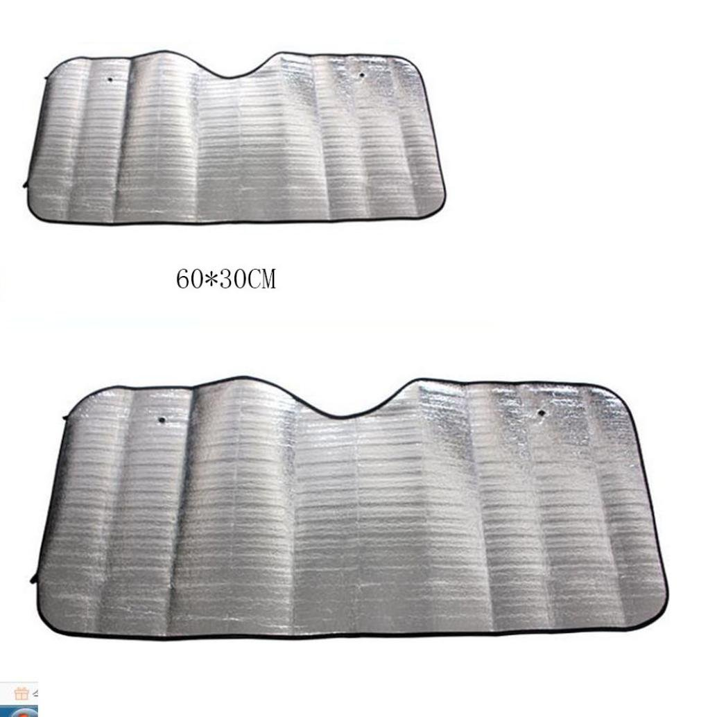 Transer Foldable Windshield Visor Sun Shade Sunshade Cover Car Front Window Snow and Ice Protector with Magnetic Suctions silver