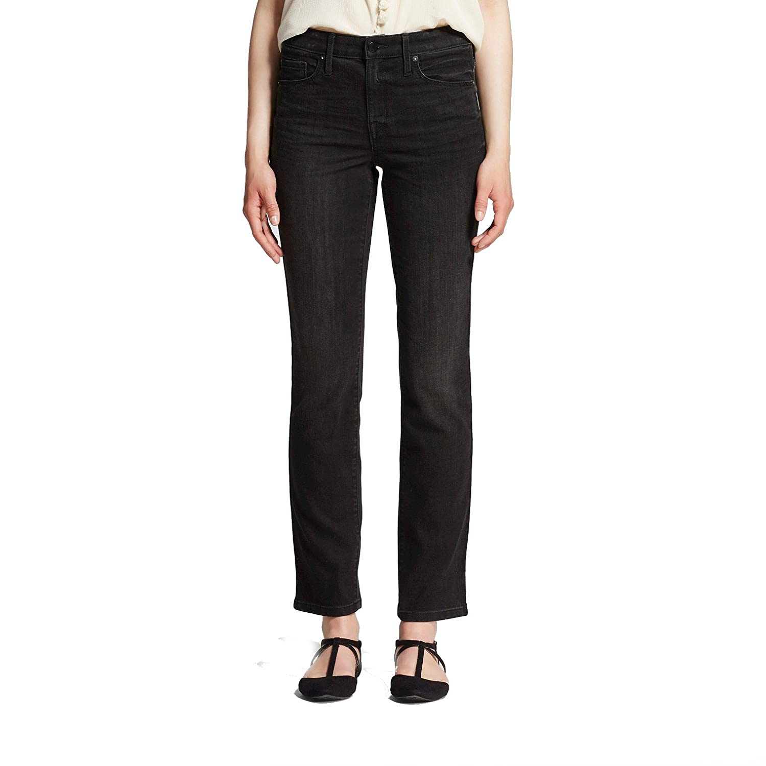 Mossimo High Rise Straight Jeans Black