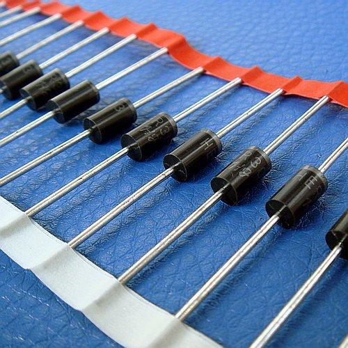 electronics-salon 10 pcs 3 Amp 200 V alta eficiencia Rectificadores Diodos, HER303.