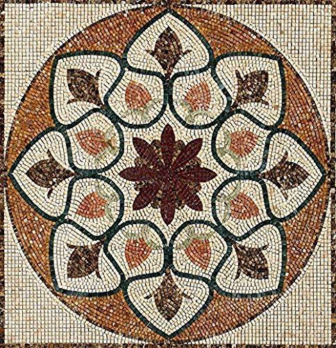 Amazon Com Mec Tapis Custom Handmade Marble Mosaic Medallion Tiles Wall Backsplash Bath Home Decor Motif Floor Art Rug Can Be Made With Glass Mosaic Handmade