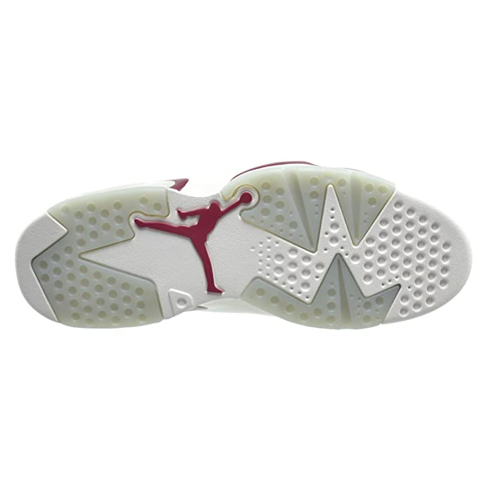 online retailer 0df5c b5f8f Amazon.com   Jordan Air 6 Retro Men s Basketball Shoes Off White New Maroon  384664-116   Basketball