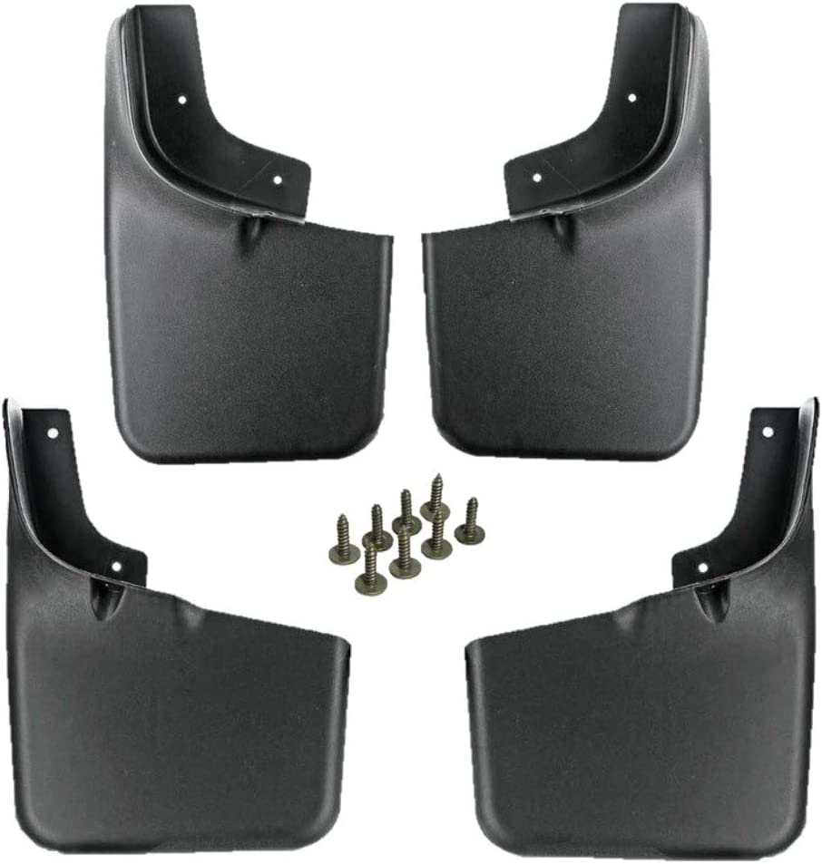 Husky Custom Fit Front /& Rear Mud Guards For 2004-2014 Ford F-150 w//out Flares