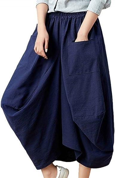 Pluderhose Mujer Pantalones Aladdin Pantalones De Linterna ...