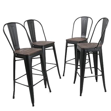 Amazoncom Tongli Metal Barstool Chairs Set Industrial Counter