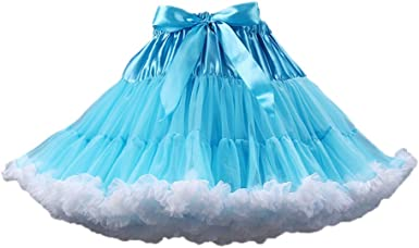 PhilaeEC Mujeres Tulle Petticoat Tutu Party Multicapa Puffy ...