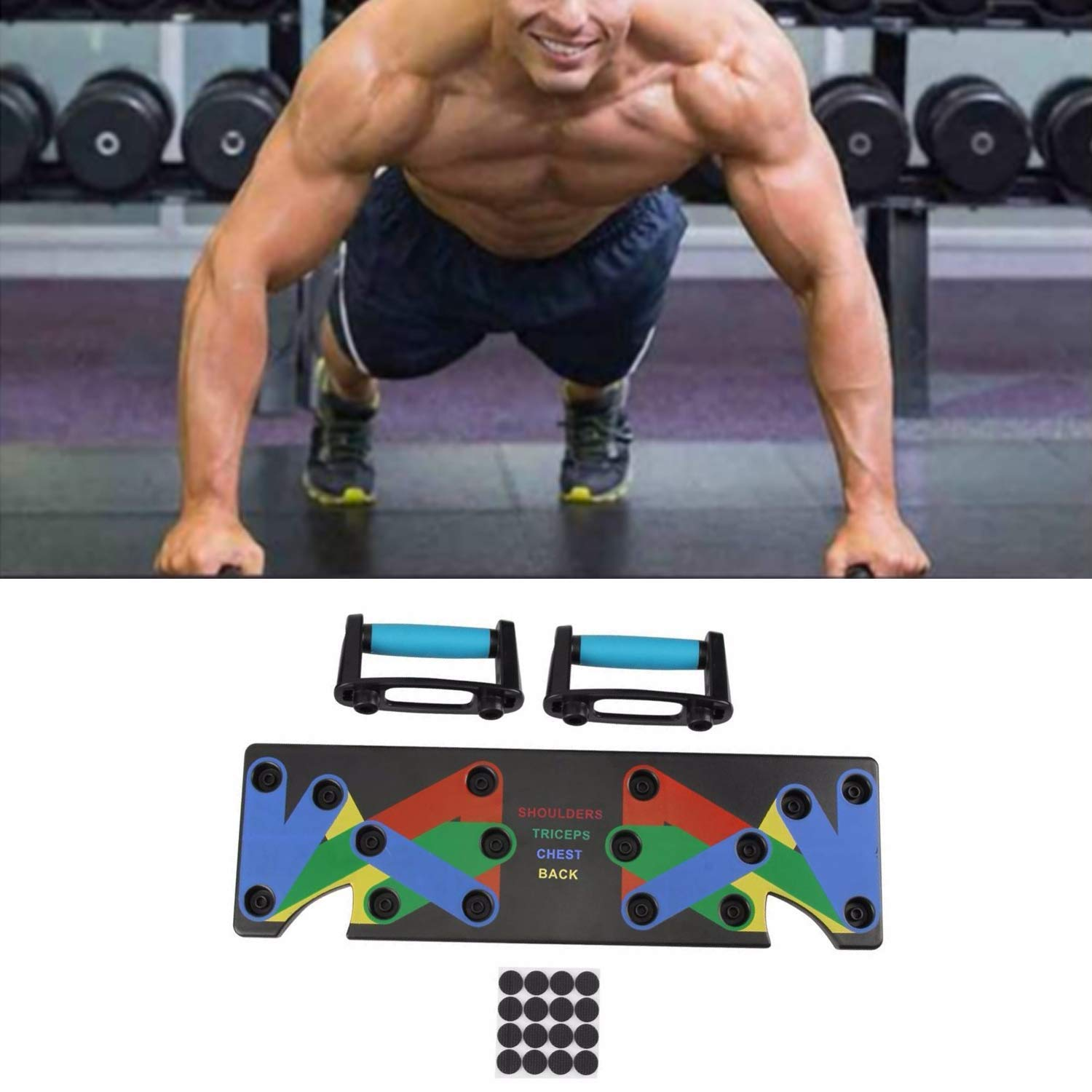 Retink 9 en 1 Syst/ème Push Up Rack Board Fitness Train Exercice Gym Stands
