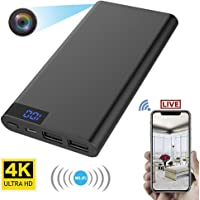 ZAOMUJIANG 2 in 1 10000mAh Mobile Power and 4K WiFi Recorder spy Hidden Camera Night Vision HD 1080P DVR Camera