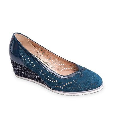 Valleverde Scarpe Donna Décolleté in camoscio blu 36201-NAVY  35 EU KANGAROOS   Baskets pour femme - Noir - noir OFWtE