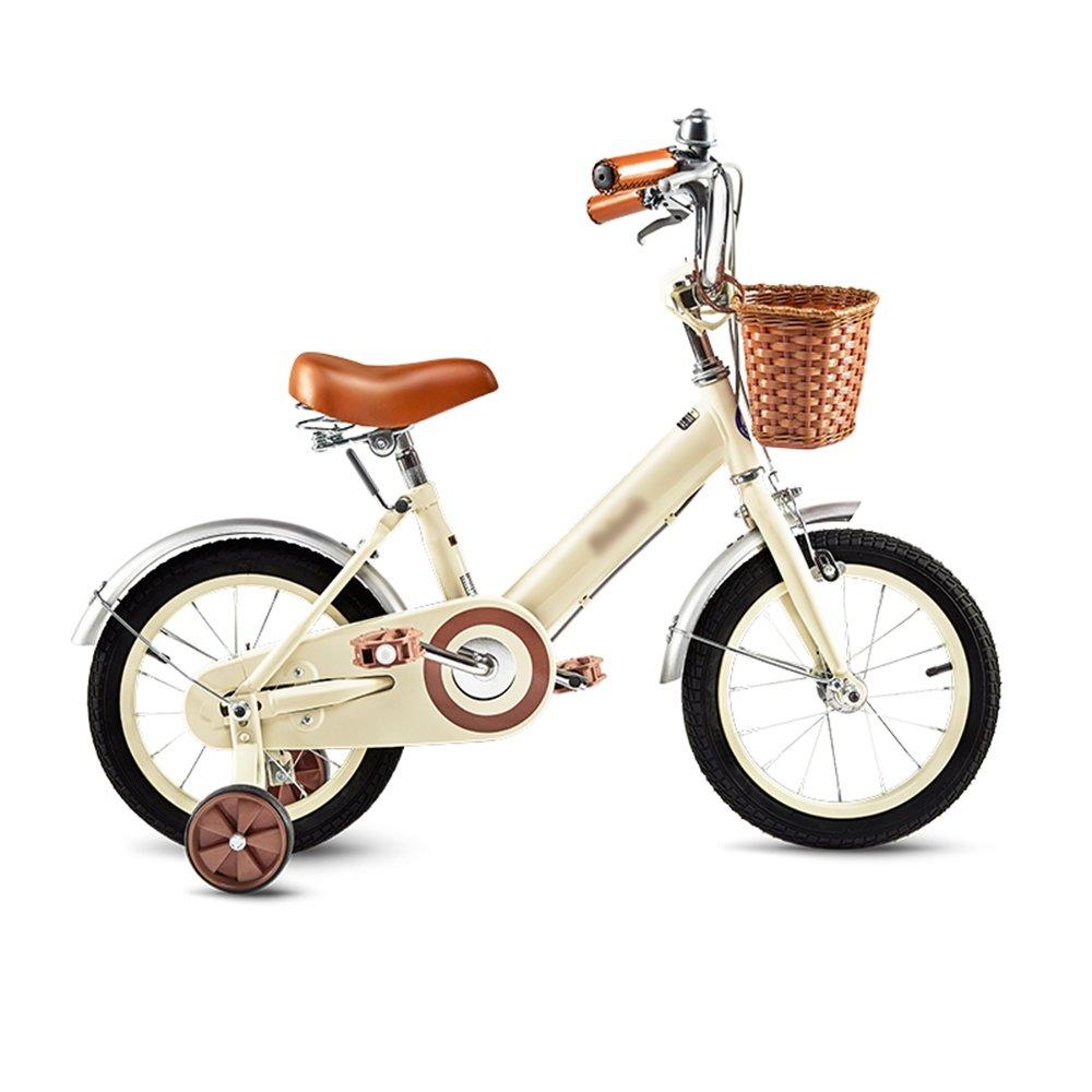 HAIZHEN マウンテンバイク 子供用自転車ベビーキャリッジ12/14/16/18インチマウンテンバイクヴィンテージムーンライトホワイト、ピンク 新生児 B07C6VZFM4 14 inch|Moonlight white Moonlight white 14 inch