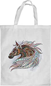 Horse Drawing Printed Shopping bag, Small Size