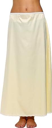Avidlove Womens Satin Half Slip Long Lace Underskirt