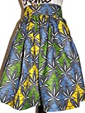 Le Blanc Couture African Print Skirt Knee Length Supreme Wax Summer jupe african Waist size 28 inch