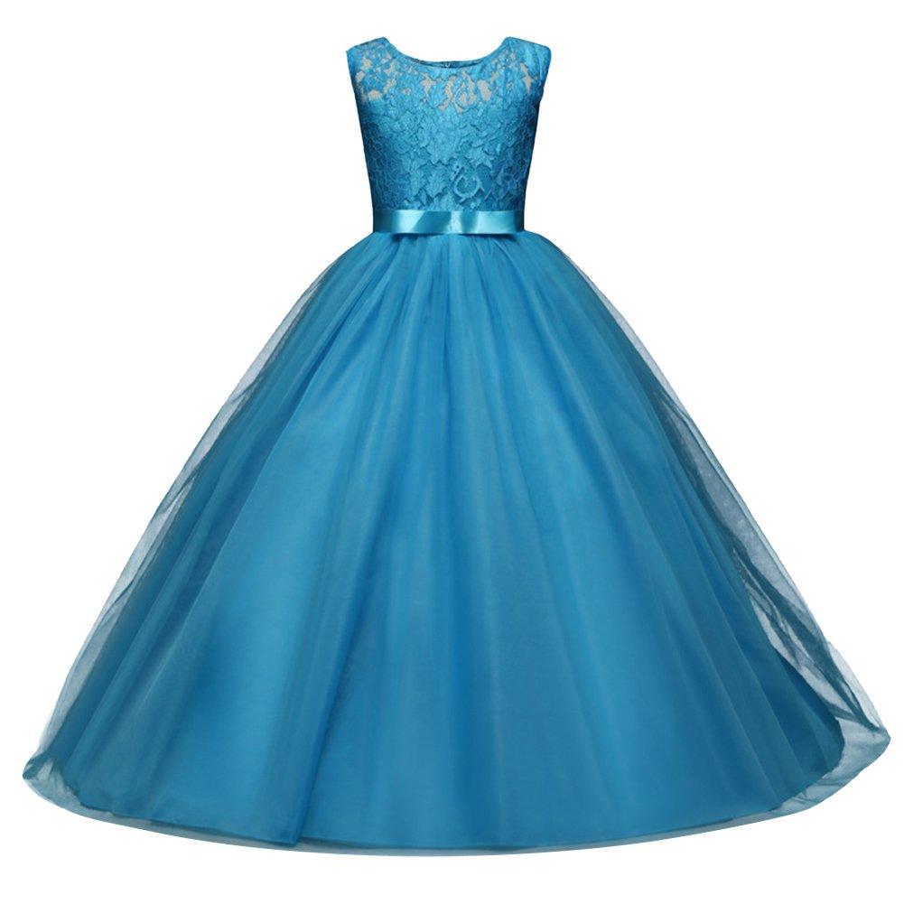 GUOCU Mädchen Kleid Festlich Brautjungfern Kleid Hochzeit Partykleid ...