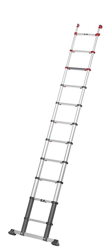 Hailo ProfiLine T350 Alu-Teleskopleiter 13 Sprossen, Leiternh/öhe individuell einstellbar, Slow Slide Technology, belastbar bis 150 kg 9113-131