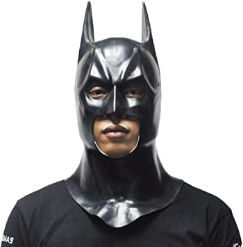Batman Cosplay Mask Full Face Halloween Costume Movie Superhero Party Props