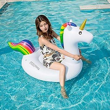 Diligencer Unicornio Gigante Inflable Flotador para Lake Beach ...