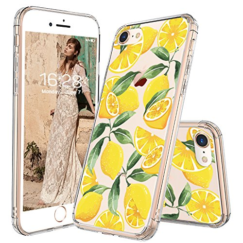 cheaper a2bf1 38aaa MOSNOVO iPhone 8 Case, iPhone 7 Case, Lemon Clear Design Transparent  Printed Plastic Hard Back Case with TPU Bumper Protective Case Cover for  Apple ...
