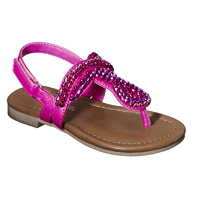 f5171cc41c23 Cherokee Jumper Toddler Girls Pink Beaded Thong Style Sandals 5