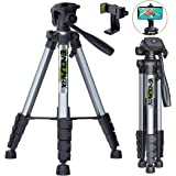"Endurax 66"" Video Camera Tripod for Canon Nikon Lightweight Aluminum Travel DSLR Camera Stand with Universal Phone…"