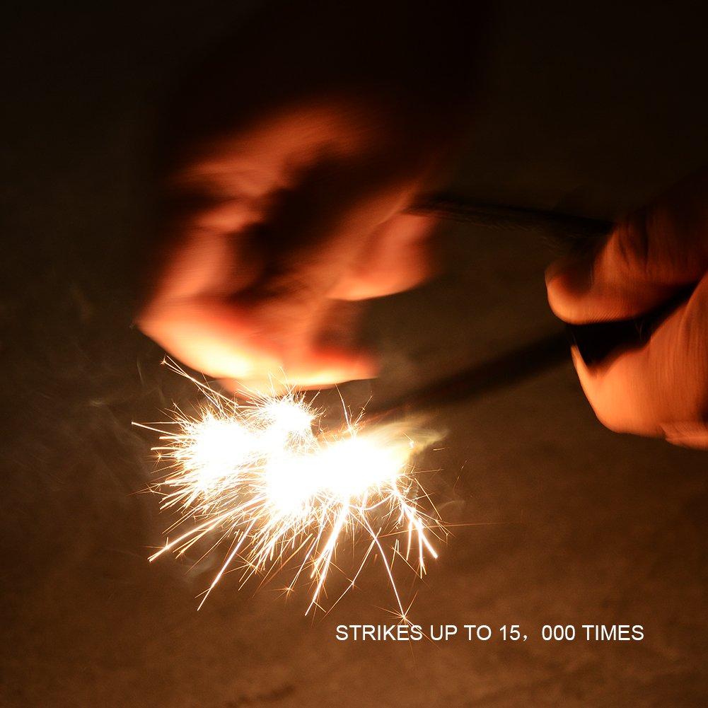 Litake Conjunto De Inicio De Fuego, Ariete De Piedra De Magnesio + Brújula + Conjunto De Supervivencia De Silbido Para Senderismo Al Aire Libre Campamento ...