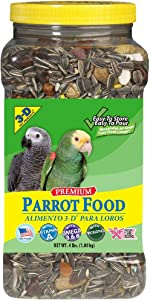 3D Premium Parrot Food 4lbs