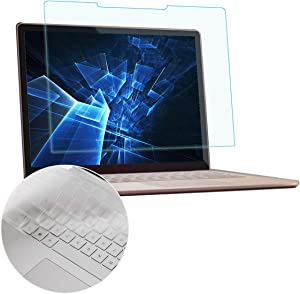 "MUBUY Anti Blue Light Anti Glare Screen Protector Fit  Microsoft Surface Book 2 13.5"" Touch-Screen Laptop with Gift Keyboard Cover, Reduces Eye Strain Block UV and Reduce Fingerprint"