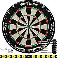 Viper Shot King Regulation Bristle Steel Tip Dartboard Set with Staple-Free Bullseye, Galvanized Metal Radial
