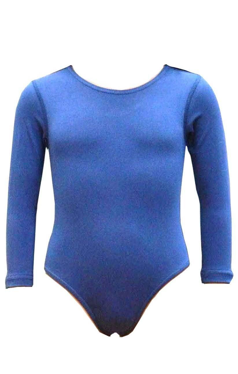 A maniche lunghe, da bambina, cotone elasticizzato Danza-Body/tutine, da danza, palestra, sport (rif.: 3350)