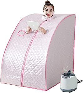 ALY Steam Sauna, Lightweight Portable Personal Steam Sauna Spa for Weight Loss, Detox, Relaxation at Home, Steam Generator Included