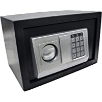 Cofre eletrônico digital Preto 31x20x20cm chave e senha GT96-B - Lorben