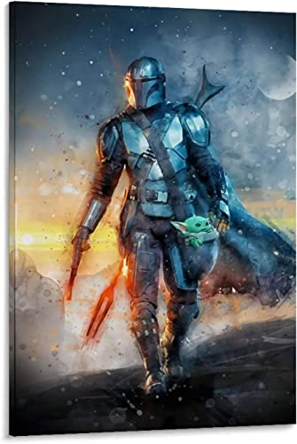 Quote Wall Art Decoration The Mandalorian Season 2 Din Djarin Cool Frontal View Pictures Arts Craft