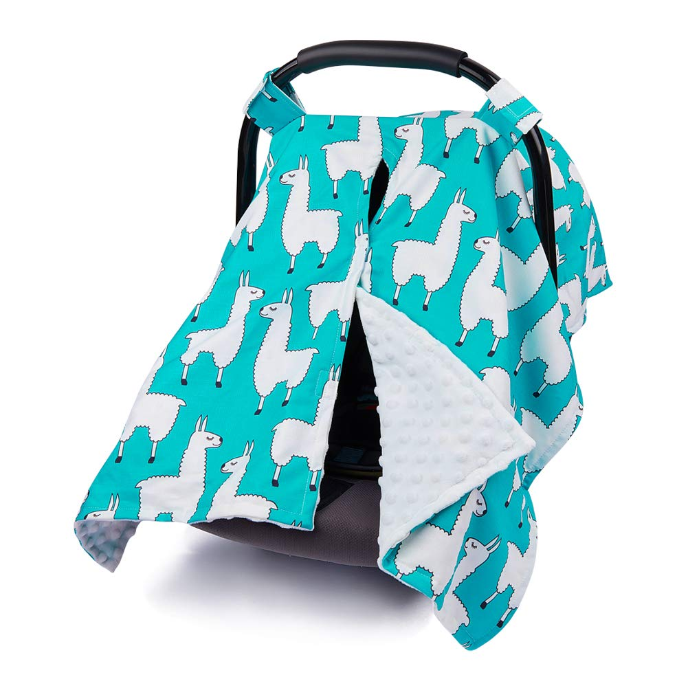 MHJY Carseat Canopy Cover Nursing Cover Cotton Breathable Carseat Cover Breastfeeding Cover for Boy Girl Baby Shower Gift for Breastfeeding Moms (Blue Unicorn)