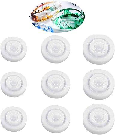 9 Moldes De Silicona Para Anillos De Resina Epoxi De 3 Tamaños Diferentes Molde Circular De Resina Para Hacer Manualidades 9 Unidades Arte Manualidades Y Costura