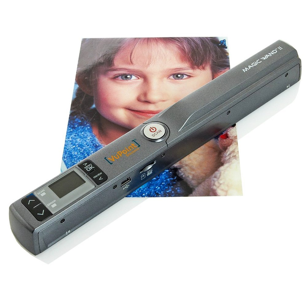 Vupoint Magic Wand II 2 Portable Scanner with 1-Inch Color LCD Display (Pewter)