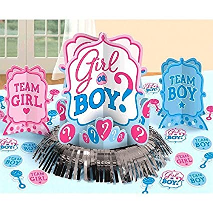 Girl Or Boy Gender Reveal Neutral Unisex Boy Or Girl Baby Shower Party Table Decoration Kit Party Supply 23 Pcs Baby Shower And Party Supplies