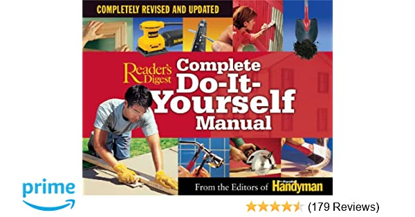 Complete do it yourself manual completely revised and updated complete do it yourself manual completely revised and updated editors of the family handyman 9780762105793 amazon books solutioingenieria Gallery