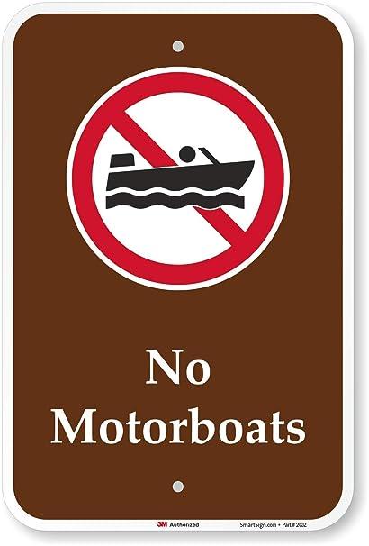 Amazon.com: Sin motorboats (con gráfico) cartel, 18