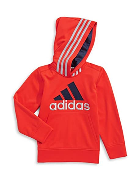 9e0b174ee adidas Toddler Boys Bright Red Poly Fleece Athletic Pullover Hoodie 2T