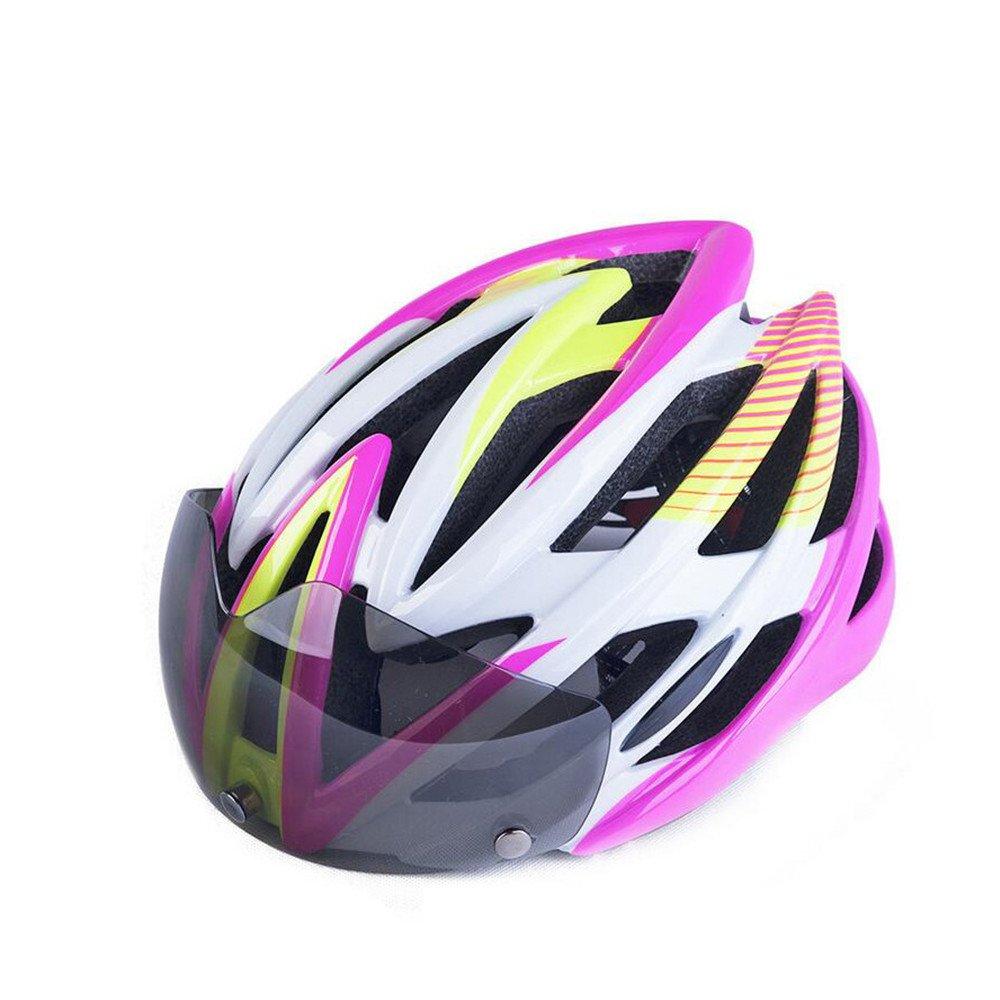 DESESHENME Fahrradhelm Ultralight Ultralight Ultralight MTB Fahrrad Motorrad Helm Männer Frauen Integral Geformten EPS Fahrrad Zubehör Einteilige Helm mit Schutzbrille 142379