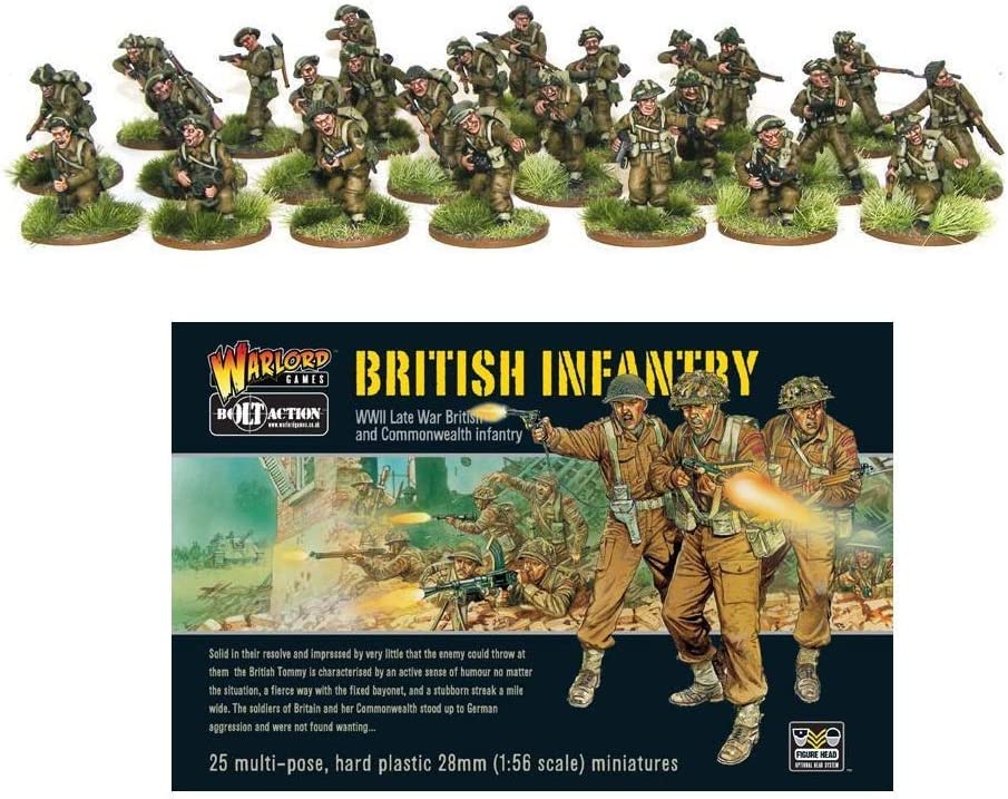 Bolt Action Late War British /& Commonwealth Infantry 1:56 WWII Military Wargaming Plastic Model Kit Warlord Games 402011006