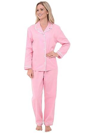 Alexander Del Rossa Woven Cotton Polka Dot Long Sleeved Pajama Set ... 929f7f0f8b