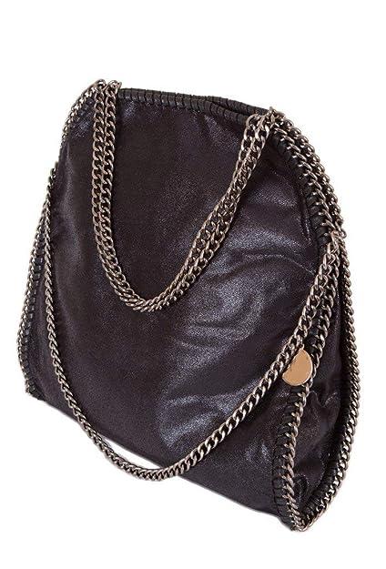 e15a03c94250 Stella Style Women s Metallic Faux Suede Large Chain Bag - Black ...